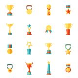 Trophy icons set Stock Images