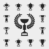 Trophy icons set Royalty Free Stock Image
