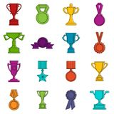 Trophy icons doodle set Stock Photography