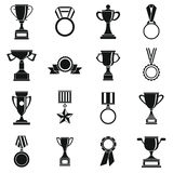 Trophy icons set, siple style Royalty Free Stock Image