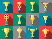 Trophy icons. Winner cup Royalty Free Stock Image