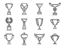 Trophy icons. Winner cup Stock Photography