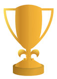 Trophy illustration design. Over a white background Stock Photography