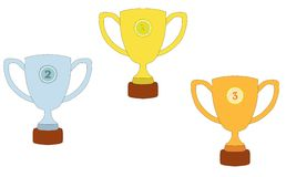 Trophy illustration design Royalty Free Stock Images