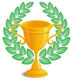 Trophy laurel wreath Stock Images