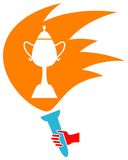 Trophy logo Royalty Free Stock Photography