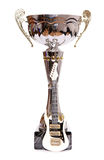 Trophy with mini electric guitar Royalty Free Stock Images