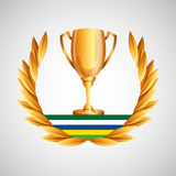 Trophy olympic games emblem Royalty Free Stock Photo