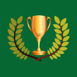 Trophy olympic games emblem Royalty Free Stock Images