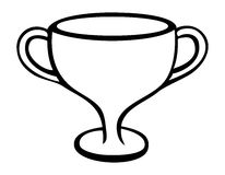 Trophy outline Stock Photo