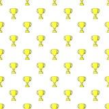 Trophy pattern, cartoon style. Trophy pattern. Cartoon illustration of trophy vector pattern for web Stock Photo