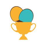 Trophy ping pong award. Vector illustration design Royalty Free Stock Images