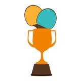 Trophy ping pong award. Vector illustration design Royalty Free Stock Image