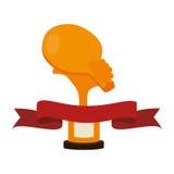 Trophy ping pong award. Vector illustration design Stock Photos