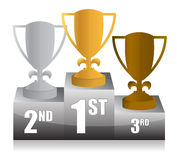 Trophy podium illustration design Stock Images