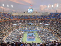 Trophy Presentation at U.S. Open Final 2014. Royalty Free Stock Photos