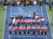 Trophy Presentation at U.S. Open Final 2014. Stock Image