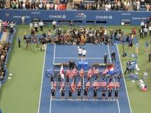 Trophy Presentation at U.S. Open Final 2014. Stock Photos