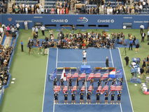 Trophy Presentation at U.S. Open Final 2014. Royalty Free Stock Image