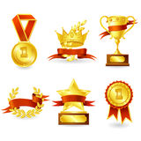 Trophy and prize emblem Stock Photo