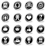 Trophy and prize icon set Royalty Free Stock Photo