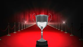 Trophy on red carpet Video