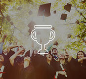 Trophy Reward Prize Victory Success Achievement Concept Stock Photos