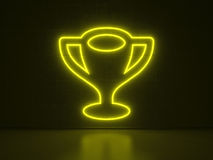Trophy - Series Neon Signs Royalty Free Stock Photo
