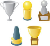 Trophy Set Stock Photo