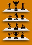 Trophy Shelves Stock Photography