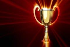 Trophy with shine. On black backgound vector illustration