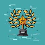 Trophy star movies art Stock Images