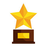 Trophy star winner award. Vector illustration design royalty free illustration
