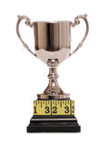 Trophy and tape measure Stock Photography