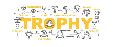 Trophy vector banner Royalty Free Stock Image
