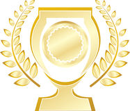 Trophy. A vector drawing represents trophy design Royalty Free Illustration