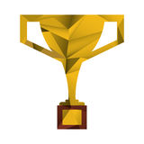 Trophy victory winner american football abstract Royalty Free Stock Image