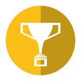 Trophy victory winner american football shadow Royalty Free Stock Photography