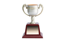 Trophy white background. Winner trophy on white background royalty free stock photography