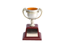 Trophy white background. Winner trophy on white background royalty free stock image
