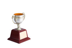 Trophy white background. Winner trophy on white background royalty free stock photos