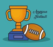 Trophy winner award american football. Cup vector illustration graphic design Royalty Free Stock Image