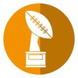 trophy winner ball shape american football shadow Royalty Free Stock Photos