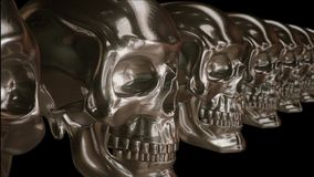 Tropić Nad Złotymi czaszkami royalty ilustracja
