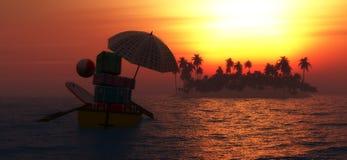 tropial island Stock Photo