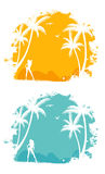 Tropic back Stock Images