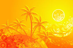 Tropic background Stock Image