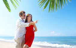 Tropic bay couple Stock Image
