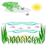 Tropic beach illustration Stock Image
