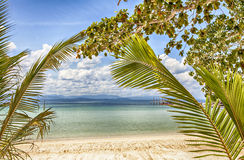 Tropic beach landscape Royalty Free Stock Photo